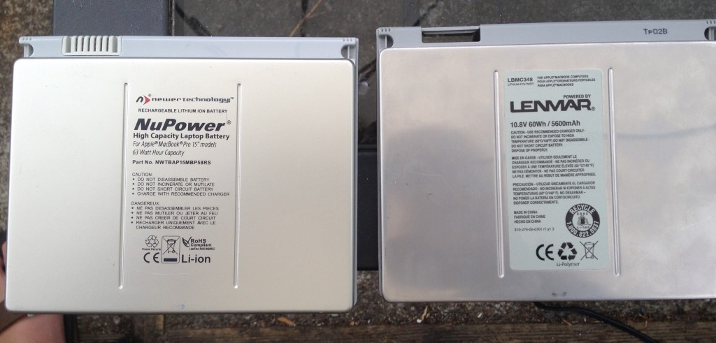 NuPower and Lenmar batteries