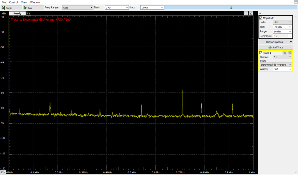 Baseline 1MHz Narrower Y range (similar lashup, no AC power to PSU)