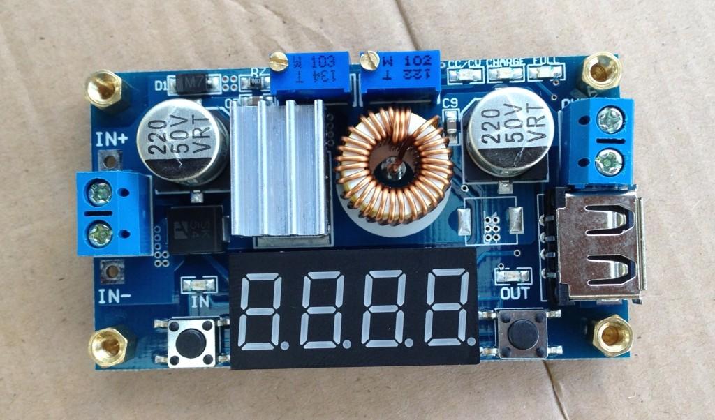 5A CC//CV W USB Voltmeter LED Drive Step down Lithium charger Power Module